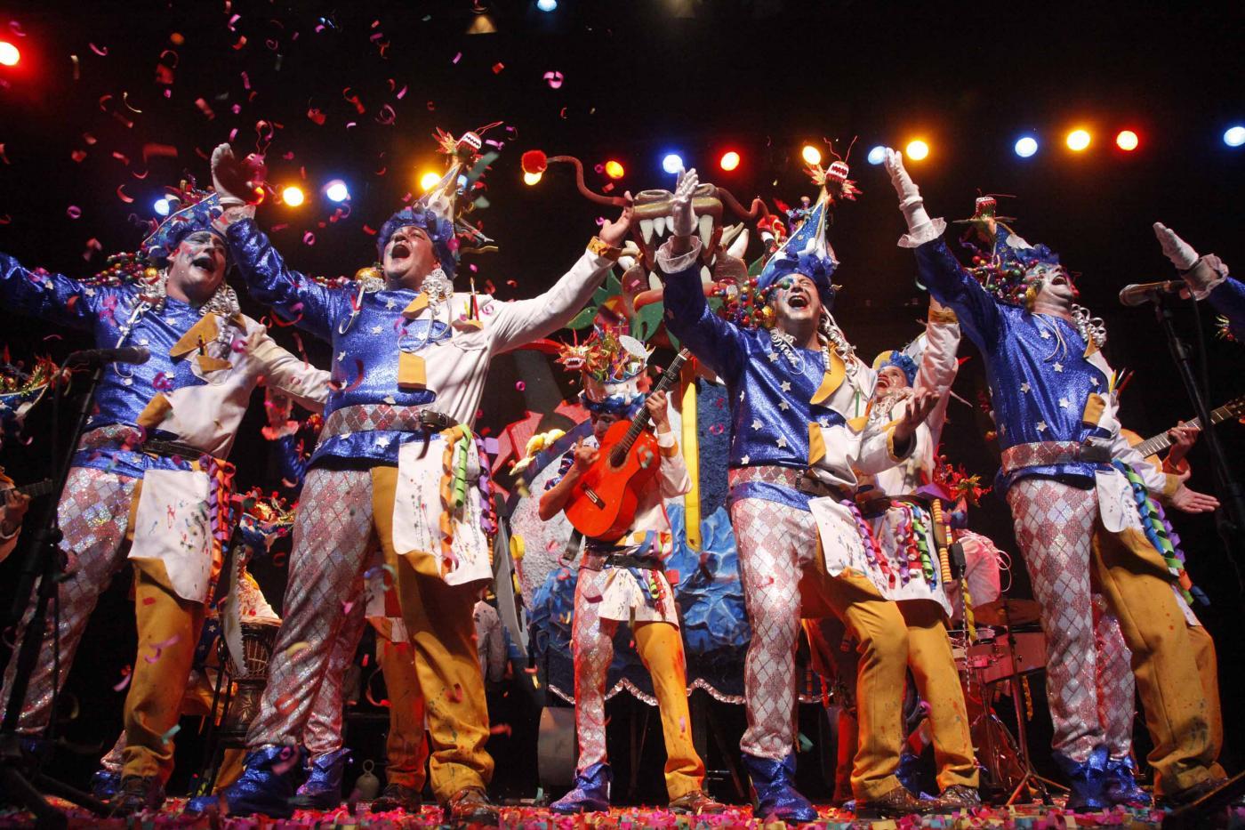 Concurso de chirigotas del carnaval de Isla Cristina.