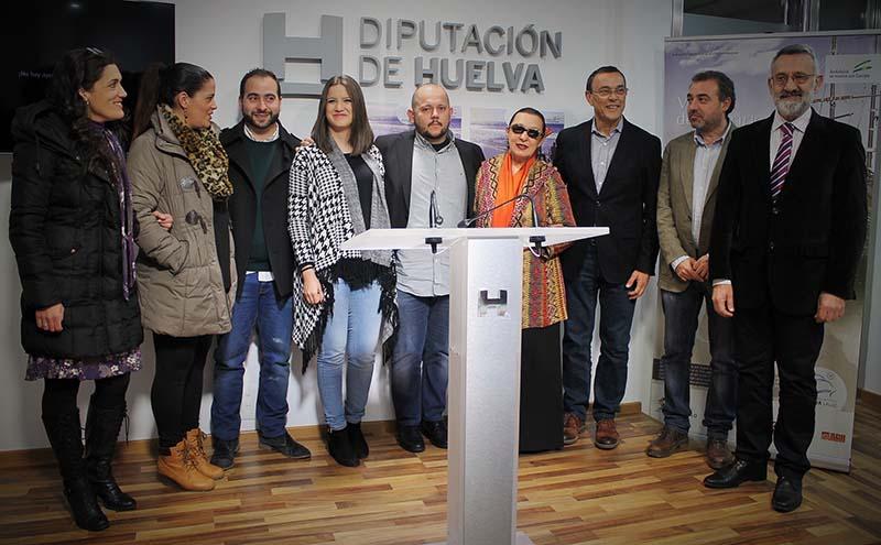 Presentación del ciclo de conciertos 'Cantes de ida y vuelta' el pasado 10 de febrero en la Diputación de Huelva.