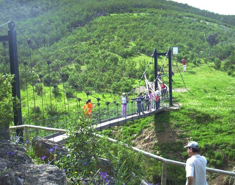 Puente colgante de la ruta del Contrabando. Paymogo
