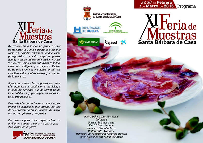 Cartel feria muestras Santa Bárbara de Casa.