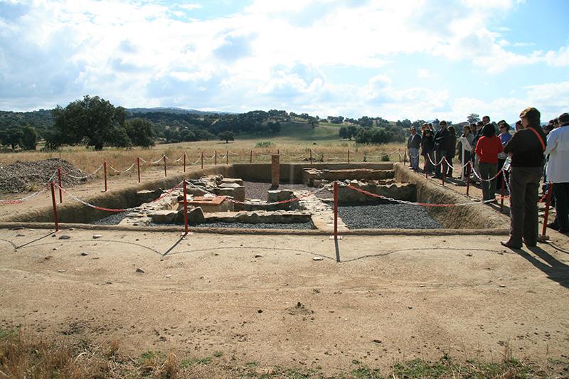 Excavaciones de  una casa de Turóbriga.