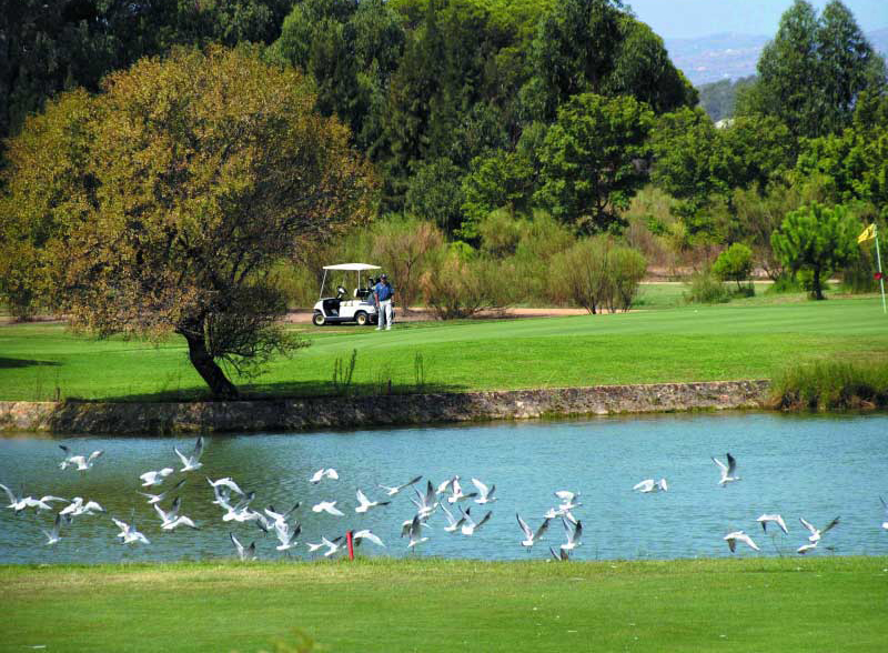 En la Eurocidad del Guadiana se concentran siete exclusivos campos de golf.