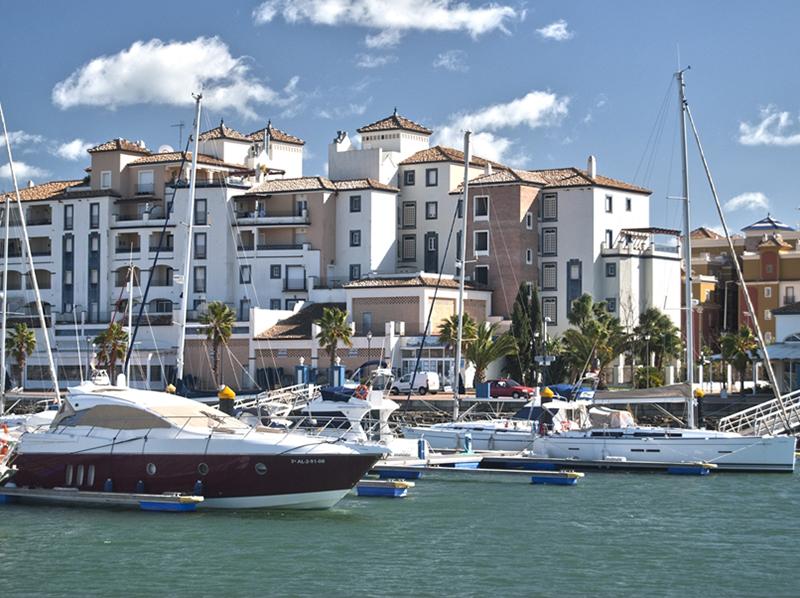 Puerto deportivo Marina de Isla Canela, en Punta del Moral (Ayamonte).