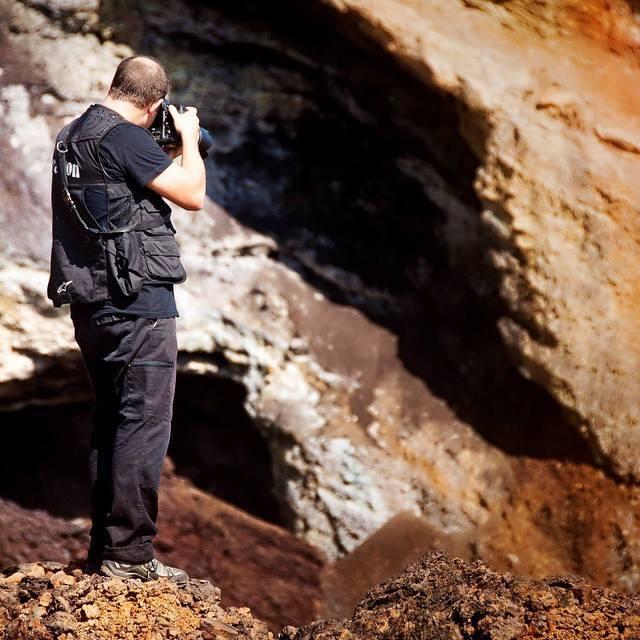 Foto el el paisaje de la Cuenca Minera